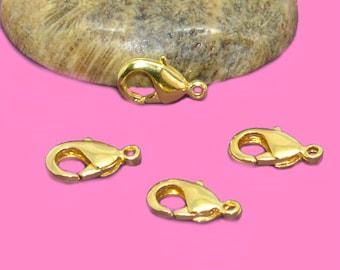 Clasps 12mm brass gold