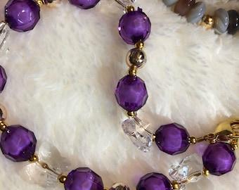 Purple Gold Amethyst Bracelet (Variation)