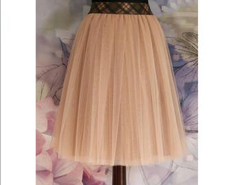 READY TO SHIP beige tulle skirt for women tan tulle skirt hazelnut tulle skirt caramel tulle skirt toffy tulle skirt camel skirt