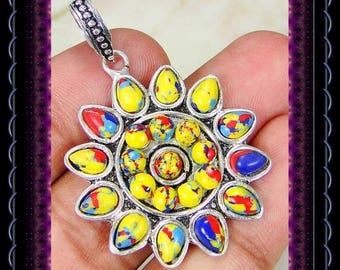 CLEARANCE..!!  Mosaic Agate Pendant