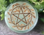 Wiccan Altar Paten, Wiccan Altar Tile, Pentagram Charging Tile, Altar Paten, Altar Tile, Pentacle Altar, Witchcraft, Occult