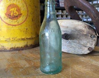 Galveston Texas TX Vintage Straight Side Coca Cola Soda Bottle Embossed Crown Top
