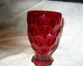 Vintage Red Glass Tumbler