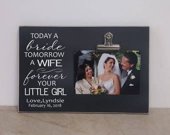 wedding gift for parents custom mother of the bride photo frame father of the - Mother Of The Bride Picture Frame