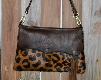 Hand Made Leather Crossbody Clutch CL-111