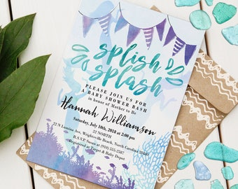 Mermaid Baby Shower Invitation | Custom Baby Shower Invite | Editable Baby Shower Invitation | Beach Baby Shower | Instant Download