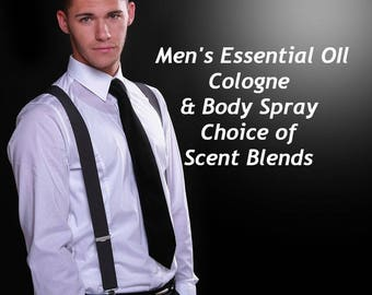 Organic Men's Cologne, After Shave, Men's Body Spray, Men's Body Spritzer, Men's Skin Care, Essential Oil, Men's Fragrance, Body Splash