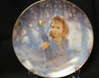 "Viletta Collector Plate ""Butterfly Magic"" First in the ""Portraits of Childhood"" Collection by Thomton Utz"