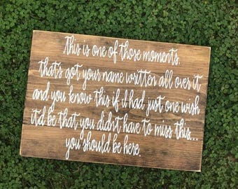 Wedding Memorial Sign - In loving memory - Wedding Decor
