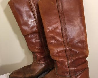 6 M Vintage Tall Ruggid Cowgirl Boots