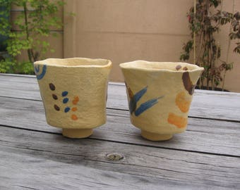 Cup modeled by hand