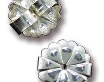 Earring Back Jumbo Sterling Silver 10mm (pkg of 6) (909S-09)