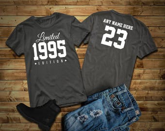 1995 Limited Edition 23rd Birthday Party Shirt, 23 years old shirt, limited edition 23 year old, 23rd birthday party tee shirt Custom