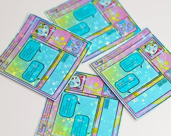 Moon Messenger, Sailor Moon MSN Style Holographic Sticker