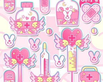 Retro Kawaii Nurse 2.0 Sticker Pack