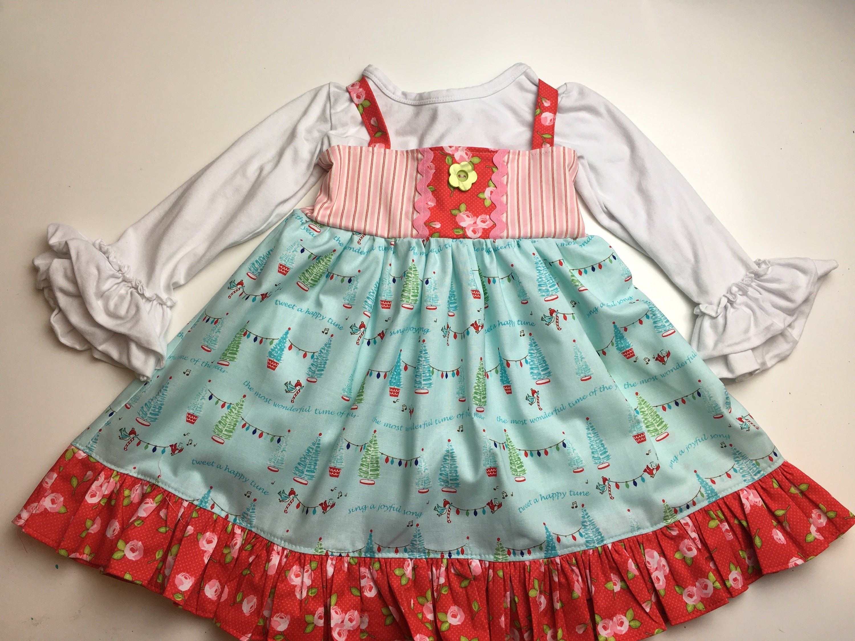 Christmas Dress - Toddler and Girls Ellie Style Dress Christmas ...