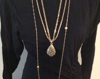 Lot of 3 Chains/Necklaces/Napier/Monet/Trafari/Gold Tone Necklaces