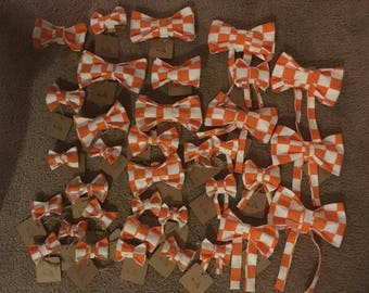 Tennessee Vols Dog Collar Bows and Bow Ties