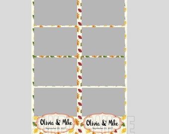 50% off,wedding photo booth template,instant download,autumn leaves wedding,photo strips,fun playful wedding,autumn wedding,fall wedding
