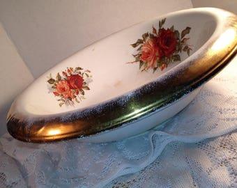 Very large Vintage Bowl, Wash Basin Floral Design KT&K Porcelain Knowles Taylor and Knowles