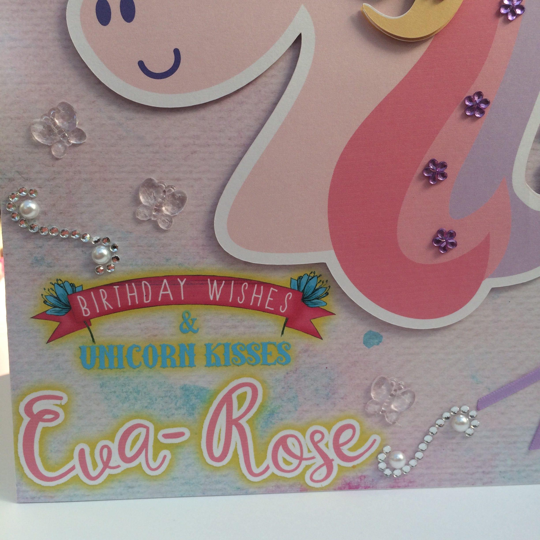 Unicorn birthday card unicorn party large birthday card custom unicorn birthday card unicorn party large birthday card custom birthday card daughter bookmarktalkfo Images