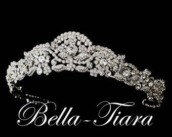 Wedding crown etsy crystal wedding tiara crystal bridal tiara wedding crown vintage bridal tiara antique junglespirit Images
