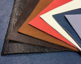 Calf Hide Scrap leather pieces brown leather fabric scrap white Calf-hide blue cow leather swatches cow samples for crafts 5x5-20x20in 1.0mm