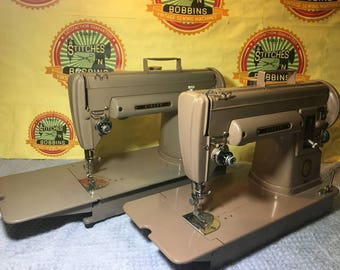 2 Vintage Singer 301A Sewing Machines Both in Excellent Condition