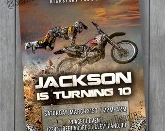 Motorbike Invitation - Dirt Bike Invitation - Dirt Bike Party - Motorbike Party Invitation - Dirt Bike Birthday Invitations