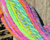 Handspun & Handpainted Merino Wool Yarn - Brilliant Rainbow Melange, Bulky, 5 oz., 150 g., 210 yards