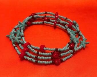 Yemaya Atawamara Eleke Santeria Collar Lukumi Ifa Ileke Yoruba Religion
