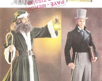 Butterick 3648 Men's Victorian Costumes Pattern, L-XL