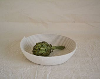 Rope bowl, Handwoaven bowl, Fruit bowl, Rope bowl, Storage basket , Keys storage, Cosmetics basket