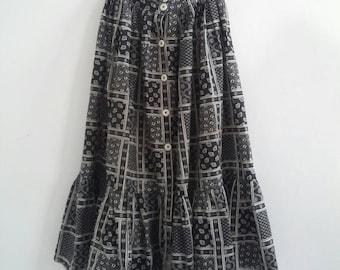 vintage cotton dirndl skirt