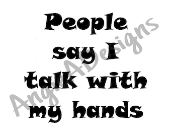 Talk With My Hands SVG