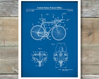 Patent Print, Racing Bicycle, Bicycle Race Poster, Cycling Poster, Racing Bicycle Print, P505