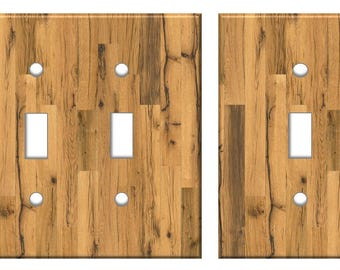 Rustic Wood Light Switch Plate Cover Planks // brown reclaimed oak image 77 // SAME DAY SHIPPING**