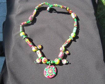 Statement Colorful Resin Necklace