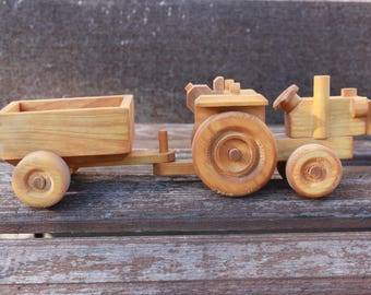 Tractor, Wooden Tractor, Toy for boy, Wooden Motors, Wooden toy ECO, Gift for boy or girl, gift for him, for good kids, handmade with love