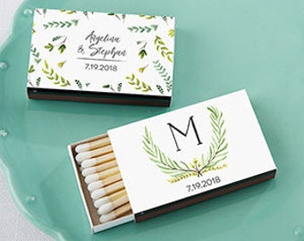 PERSONALIZED Botanical Garden Themed Matchboxes (50)