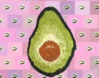 AVOCADO Embroidered Iron-On Patch
