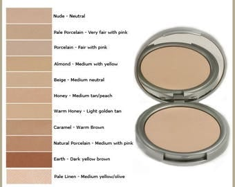 Samples Pressed Mineral Foundation Powders 100% Vegan, Full Coverage, Setting Powder