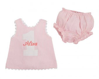 Mud Pie Personalized Bloomer Set and Overalls