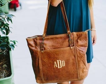 Heartstrings Personalized Rustic Carryall