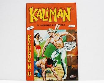 Kaliman El Hombre Increible No 81 El Asesino Invisible Revista en Español Comic RARE