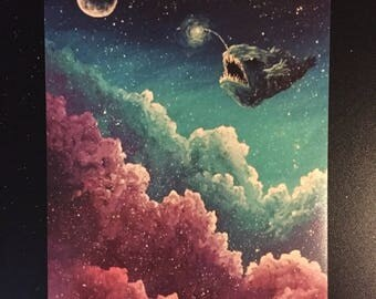 Guardian of the Sky PRINT of Acrylic Painting