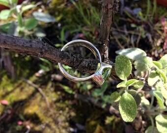 Peridot Ring Sterling Silver