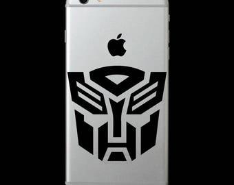 Transformers Autobot logo symbol Vinyl Decal/iphone skin/cell phone sticker/laptop/macbook/yeti tumbler/car/tablet/iPad/Surface/locker