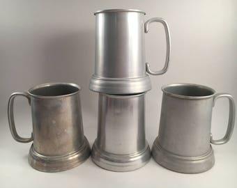 Vintage Stein - Stein - Vintage Pewter Mug - Pewter Mug - Set of 4 - Vintage Pewter - Mug - Vintage Pewter Stein - Pewter Stein - Stein