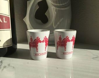 Personalized Christmas Shot Glass, Personalized Dala Horse, Christmas Dala Horse, Dala, Hostess Gift, Stocking StufferTiny Pot, Tiny Planter